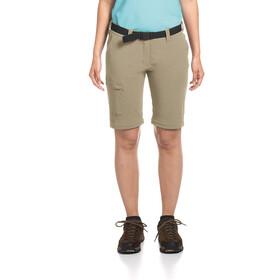 Maier Sports Inara Slim Pantalon convertible avec fermeture éclair Femme, coriander